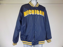University of Michigan UM Wolverines Stadium Jacket~Steve & Barry Coat~Mens XL - $42.75