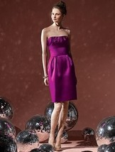 Dessy 8104...Cocktail length, Strapless Satin Dress....Persian Plum....Sz 8 - €34,51 EUR