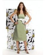 Alfred Sung 401...Cocktail ..Satin...Strapless Dress....Kiwi..Size 0 - $29.99