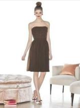 Cynthia Rowley 8004.....Strapless, Cocktail length Dress.....Espresso....Size  8 - $19.79