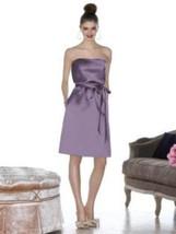 Cynthia Rowley 8013..Cocktail length, strapless, Satin Dress....Lavender... - $19.79