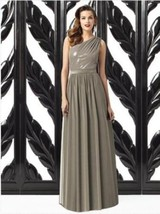 Dessy 2872*....Full length, One shoulder Dress......Mocha....Size 8 - €21,56 EUR