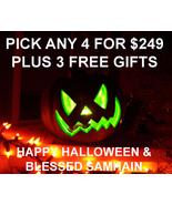 HALLOWEEN PICK ANY 4 FOR $249 & 3 FREE GIFTS SA... - $0.00
