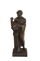 "Democritus sculpture ""father of modern science"" alabaster statue oxidati... - $54.90"