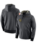 PITTSBURGH STEELERS SALUTE TO SERVICE SIZE SMALL HOODIE HOODY 2016 BRAND... - $99.99