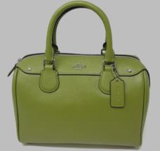 New Coach F31083 mini Bennett Satchel Crossgrain Leather handbag Yellow Green - $123.70