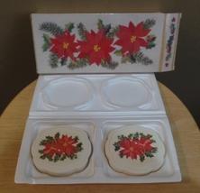 Vintage Avon Poinsettia 2 Fragrance Decaled Soap Bars In Original Box - $23.00