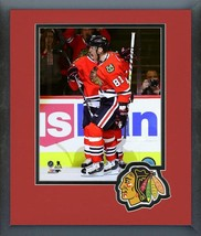 Marian Hossa 500th NHL Goal October 18, 2016 -11x14 Logo Matted/Framed Photo - $42.95