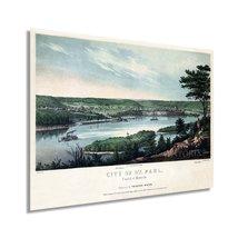 1853 Saint Paul Minnesota Map - Vintage St Paul Minnesota Wall Art - Old St Paul - $34.99+