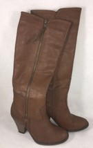 Mia Vagabond Round Toe Synthetic Knee High Boot Tan Brown Cognac heels s... - $32.71