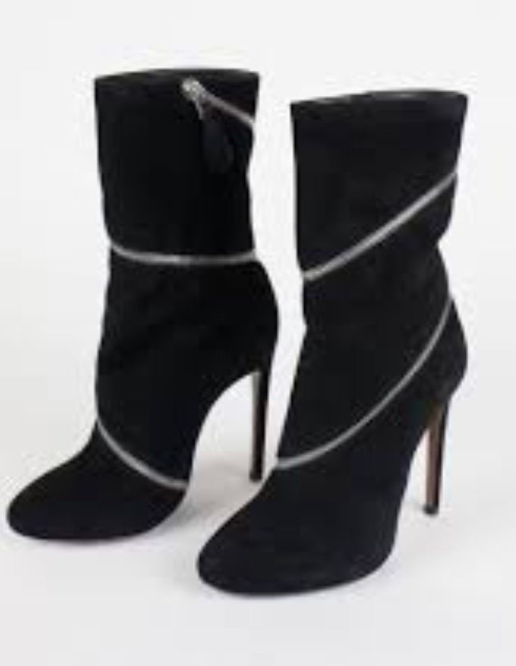 8c6868fc0fd NEW Azzedine Alaia Black Suede Spiral Zipper and 50 similar items