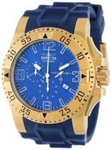 Invicta Mens 11903 Excursion Sport Chronograph Blue Dial Blue Polyurethane Watch - $148.44