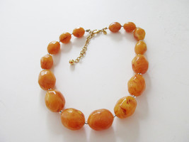 JOAN RIVERS faceted amber beaded necklace. Retired QVC - $12.00
