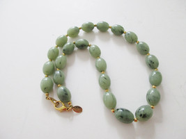 JOAN RIVERS green swirl beaded necklace. Retired QVC - $12.00