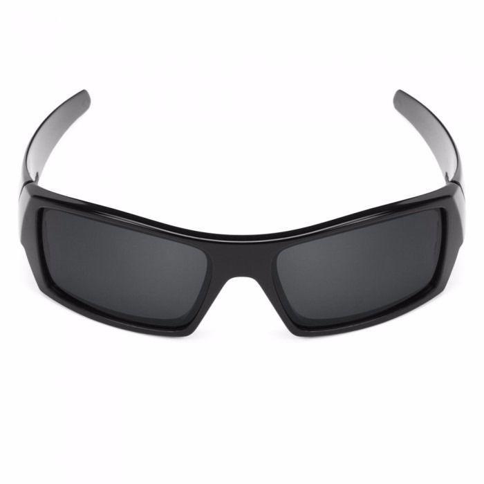 Oakley Gascan Men's 03-471 Black Grey Lens Used Sunglasses