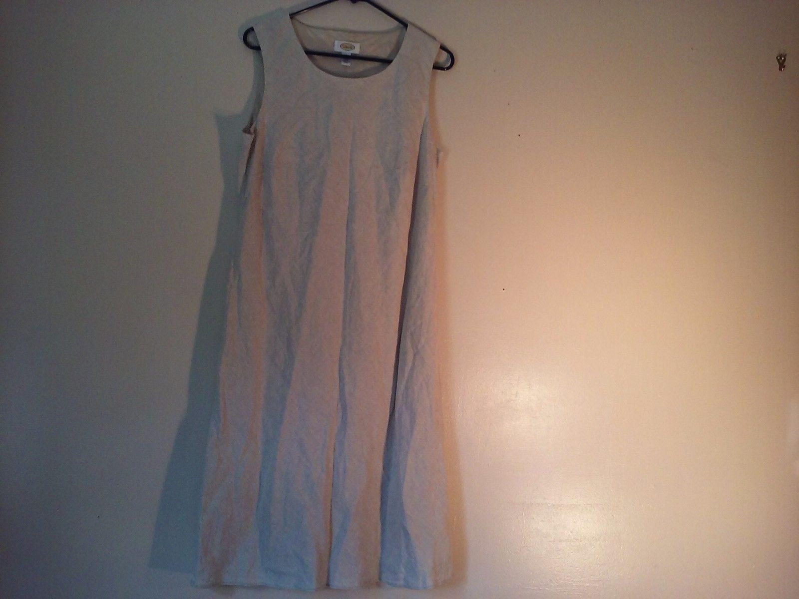 Great Condition Talbots Size 14 Beige Sleeveless Dress