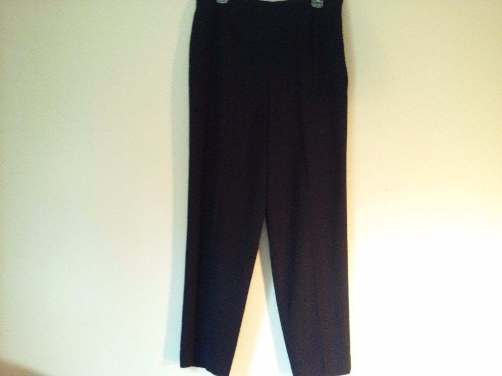 Great Condition Amanda Smith Size 16 Black Pants Stretch Polyester Acetate Blend
