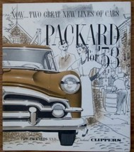 1953 Packard and Packard Clipper dealer  color promotional poster near mint - $19.99