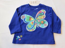 The Children's Place Baby Girl's Long Sleeve Shirt 6-9 Months Butterfly NWT - $24.74