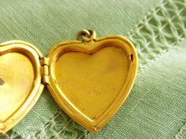 Vintage Gold Filled Heart Locket Pendant Great Seal of the United States of Amer image 4