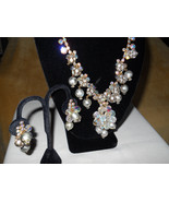 DeLizza & Elster Rhinestone and Crystal Necklace and Earring Set Juliana... - $225.00