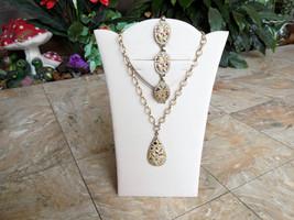 Sarah Coventry Sultana Necklace and Bracelet Set Multi-Color Confetti Vi... - $42.00