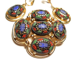 Sarah Coventry Light of the East Brooch & Earring Set Vintage Signed - $35.00