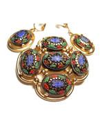 Sarah Coventry Light of the East Brooch & Earring Set Vintage Signed - €30,58 EUR