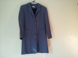 Great Condition Vantana Italy 100% Wool Blue Gray Button Up Suit Jacket
