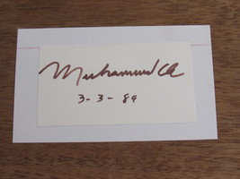 MUHAMMAD ALI BOXING CHAMPION OF THE WORLD SIGNED AUTO CUT INDEX DATED - $199.99
