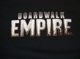 HBO Boardwalk Empire Series Logo Entertainment Black Cotton T Shirt Size XL - $15.53