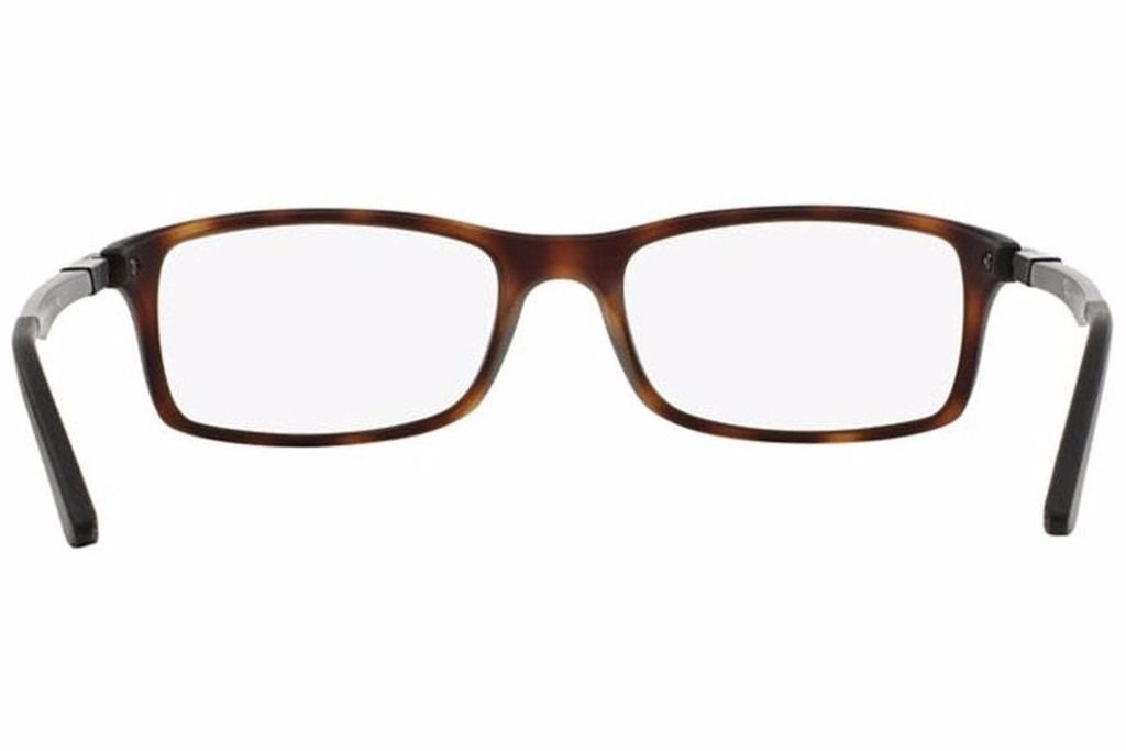 Ray Ban Eyeglasses RB7017 5200 Havana Rectangular 54mm ...