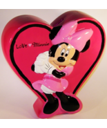 Disney Minnie Mouse Pink Ceramic Heart Bank Lov... - $11.00
