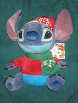 Disney Store Alien Stitch Holiday Stuffed Plush Doll. Aprox.11in. New. - $19.78