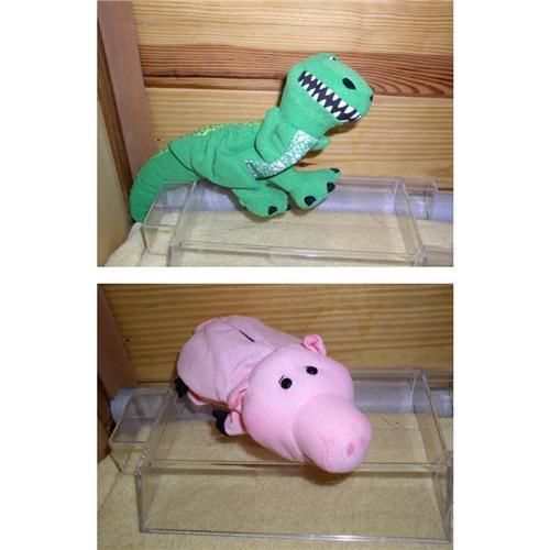 Disney Toy Story Ham and Rex Hand Puppets in orginal pacakge