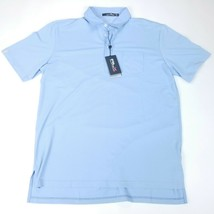 Ralph Lauren RLX Performance Mens Wicking Golf Polo Shirt Size L Blue St... - $55.69