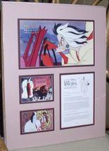Disney Villain Cruella DeVil 101 Dalmatians Cast  Lithograph - $125.77