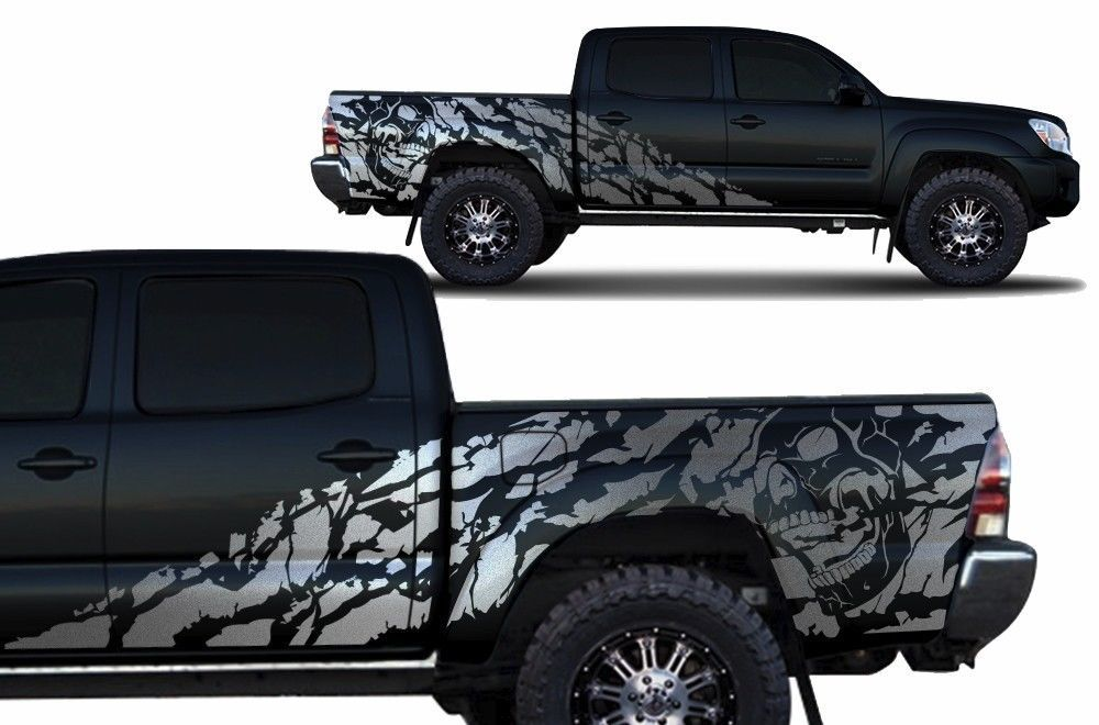 Custom Vinyl Decal Nightmare Wrap Kit For 4d Toyota Tacoma
