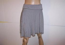 SOPHIE MAX Skirt Sz M Fold Over Waist Black Whi... - $13.96