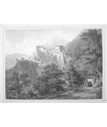 ITALY Tirol Vastle Castel Tirolo South Tyrol - 1870s Original Engraving ... - $30.22