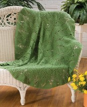Z133 Filet Crochet PATTERN ONLY Hinterland Round Throw Afghan Pattern - $7.50