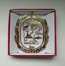 Minnesota Brass Christmas Ornament State Souvenir Travel Gift Vacation - $13.95