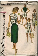 2589 Vintage Simplicity Sewing Pattern Junior Girls Shorts Blouse Wrap S... - $4.15