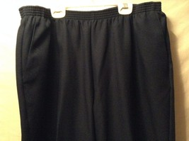 Great Condition Alfred Dunner Woman 20W Navy Blue Pants 100% Polyester Elastic image 2