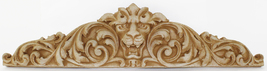 Lion Crest Concrete Wall Plaque - $69.00