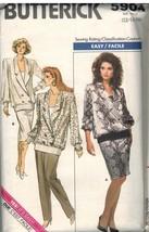 5904 UNCUT Butterick SEWING Pattern Misses Top Tank Top Pants Skirt Pullover OOP - $6.95
