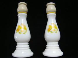 AVON 1970s Buttercup Candlesticks Holders Imperial Garden Cologne Empty - $14.84