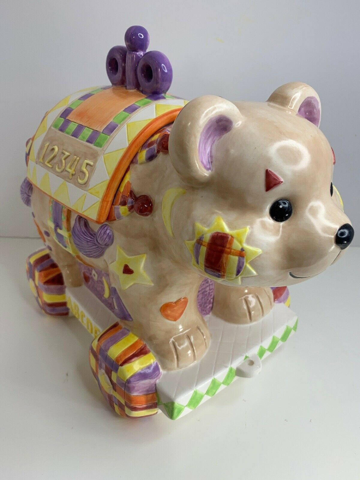 "Primary image for Enesco Artists Gallery 1996 Come And Join The Parade ""Cookie Bear"" Cookie Jar"