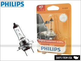 H7 Authentic PHILIPS Standard Halogen 12V 55W Bulb 12972B1 OEM Quality Pack of 1 - $12.00