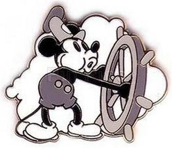 DisneyMickey Mouse Steamboat Willie black and White never sold pin/pins - $29.99